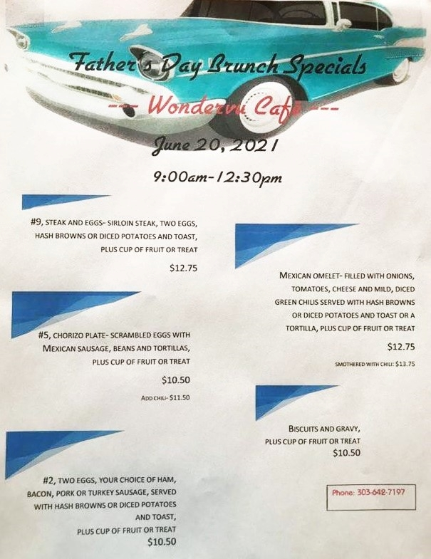 Mothers Day Menu 2021 New